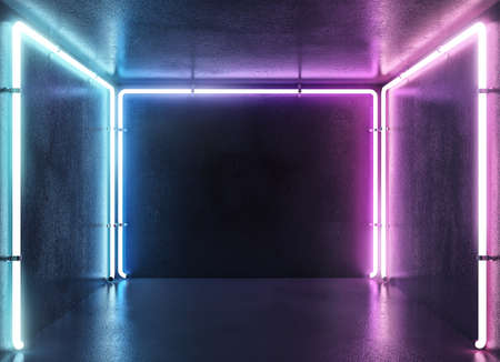 Concepto de fondo de discoteca de estilo electrónico de neón de color.