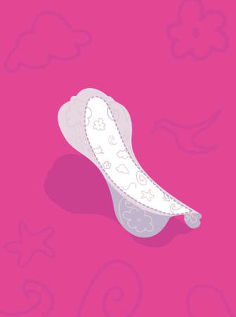menstrual: pantiliner Illustration
