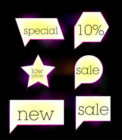 white sale tag sticker