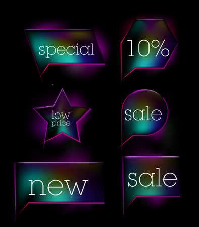 blue sale tag sticker