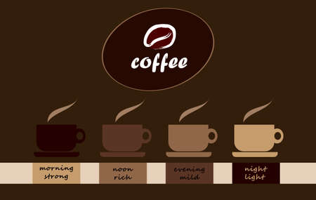 cappuccino: coffee cups - from morning till evening