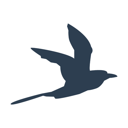 Flying bird icon on white background. Vector illustration  イラスト・ベクター素材