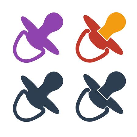 Nipple icons on white background. Vector illustration