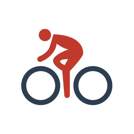 Cycling Icon on white illustration.