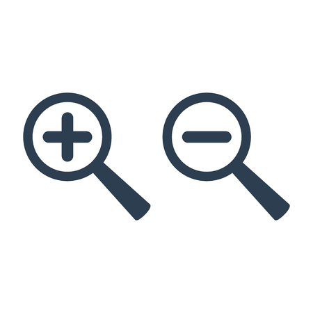 Zoom icon on white background. Vector illustration