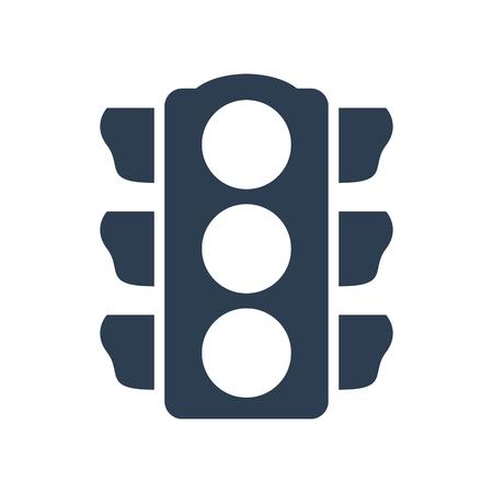 Traffic light Icon on white background. Vector illustration