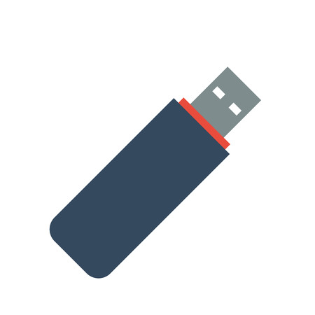 USB flash drive Icon on white background. Vector illustration