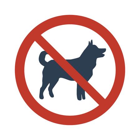 No dog sign on white background. Vector illustration. Illustration