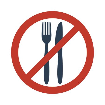 No food sign on white background vector illustration.