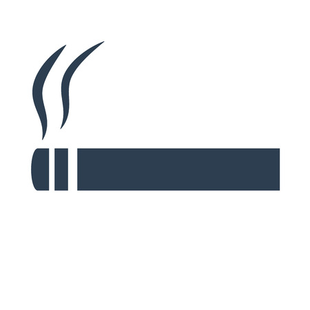Cigarette icon on white background vector illustration.