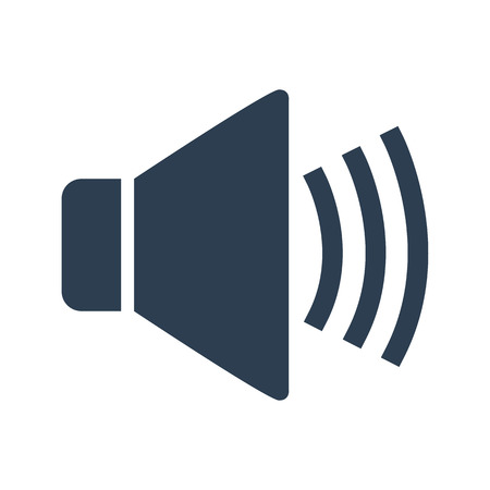 Sound Icon on white background.