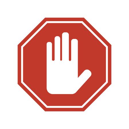 stop signe sur fond blanc