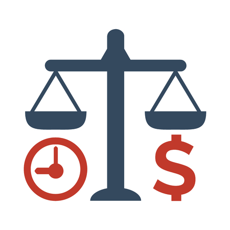 Time Is Money Icon on white background. Vector illustration