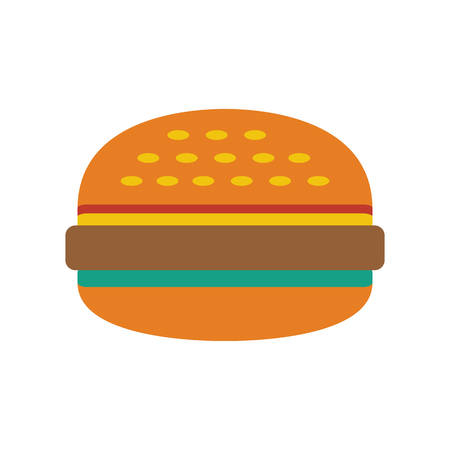 Burger icon on white background. Vector illustration