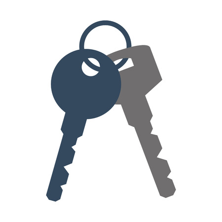 Bunch of Keys Icon on white background. Vector illustration