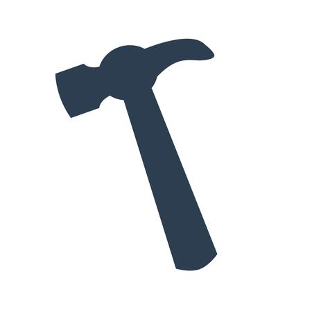 Hammer Icon on white background. Vector Illustration