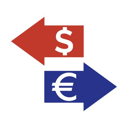 Exchange icon on white background vector illustration. Illustration