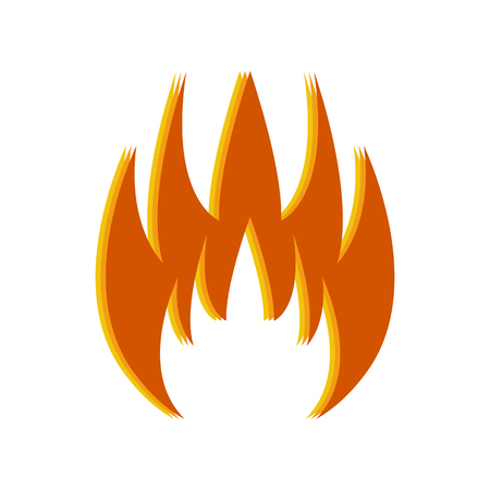 Fire icon on white background. Vector illustration