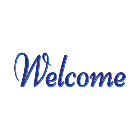 welcome sign on white background. Vector illustration Illustration