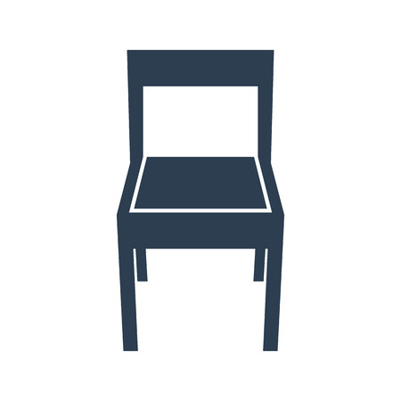 Chair icon on white background. Vector illustration