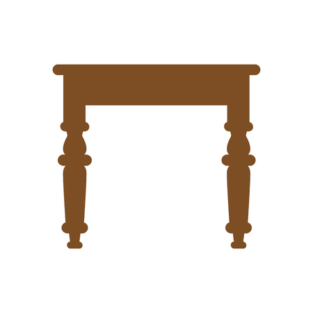 Table icon on white background. Vector illustration