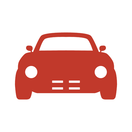 Car icon on white background. Vector illustration 向量圖像