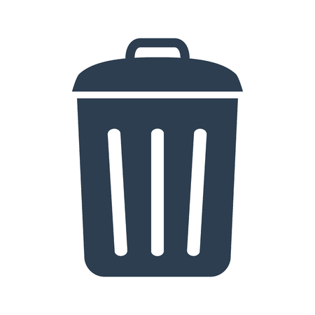 Trash bin icon on white background. Vector illustration Stock fotó - 94782420