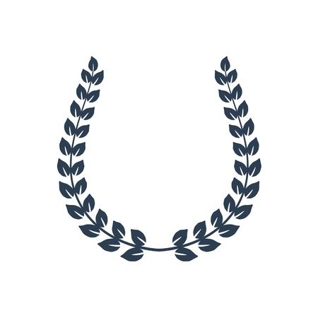 Laurel wreath on white background. Vector Illustration