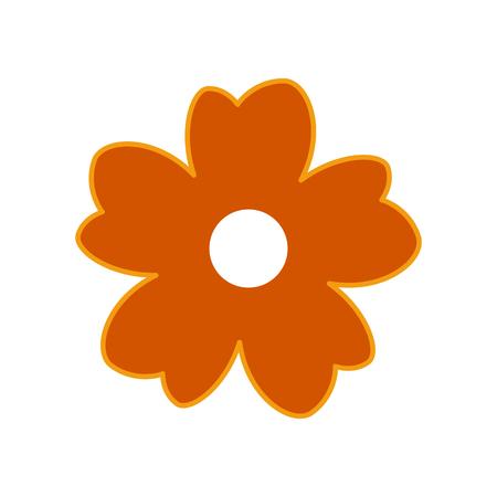Flower icon on white background. Vector illustration