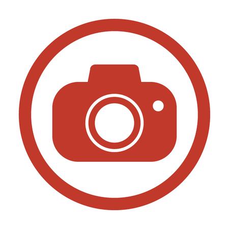Camera icon on white background. Vector illustration