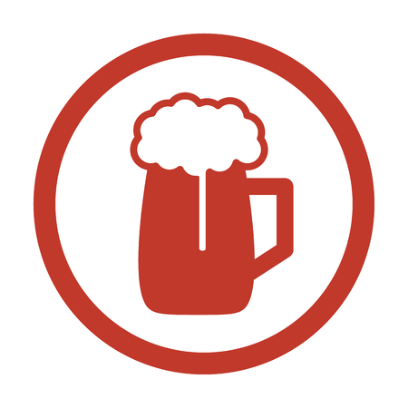 Beer Icon on white background. Vector illustration