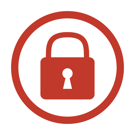 Lock icon on white background. Vector illustration
