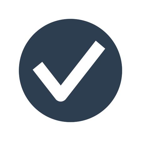 Check mark icon on white background vector illustration.