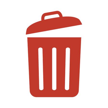 Ikona kosza na śmieci na białym tle ilustracji wektorowych Ilustracje wektorowe