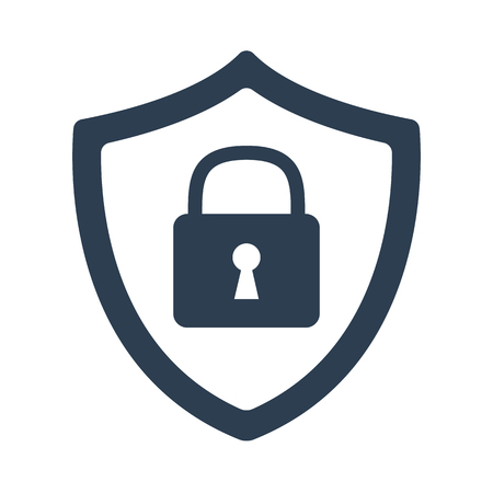 Security icon on white background vector illustration.