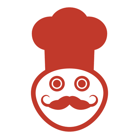 Chef icon on the white background. Vector Illustration