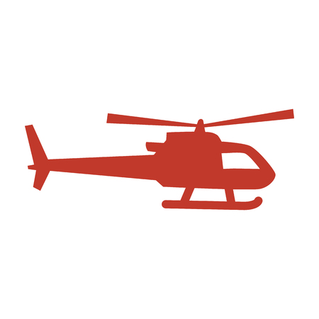 helicopter icon on white background. Vector illustration