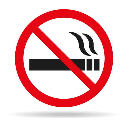 No smoking sign on white background. Vector illustration