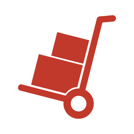 Handcart icon on white background. Vector illustration Illustration
