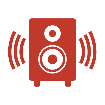 Audio speaker icon on white background. Vector illustration