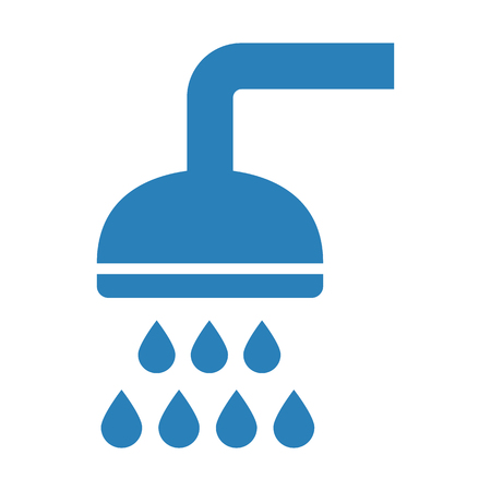 Shower icon on white background. Vector illustration