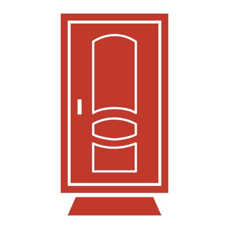 Door icon on white background Vector illustration