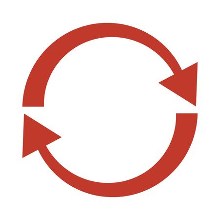 Refresh icon on white background. Vector Illustration
