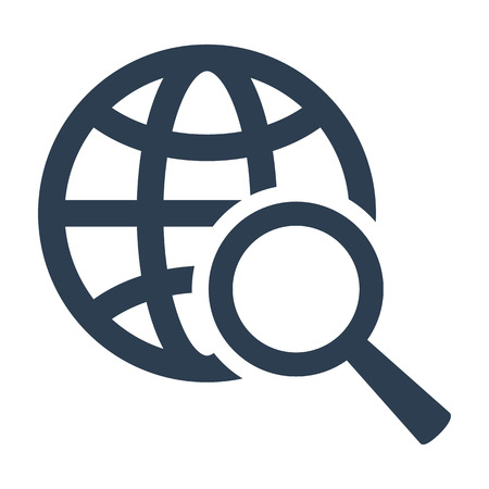 Global search icon on white background. Vector illustration Ilustrace