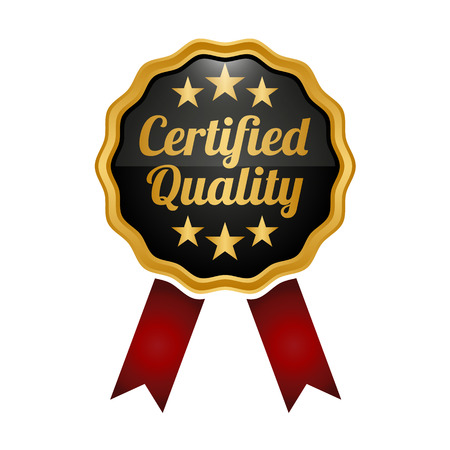 Certified quality medal badge