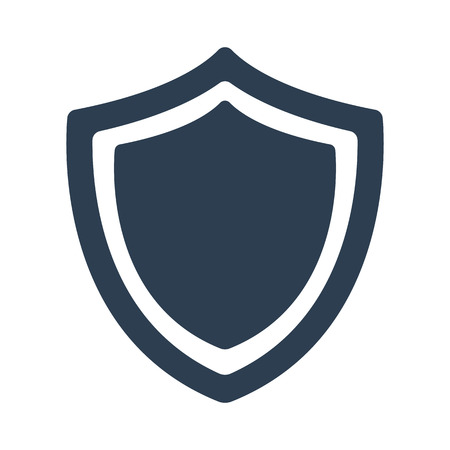 Shield icon on white background. Vector illustration Vectores