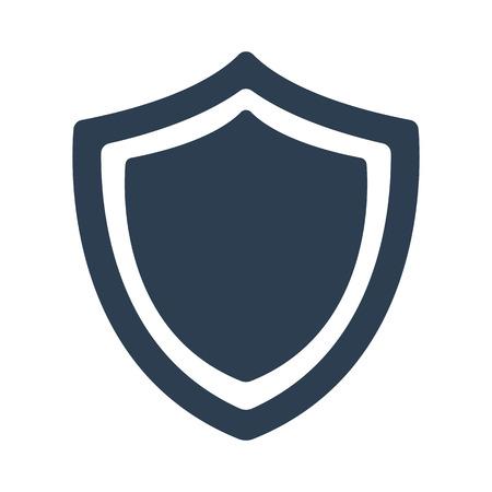 Shield icon on white background. Vector illustration Illustration