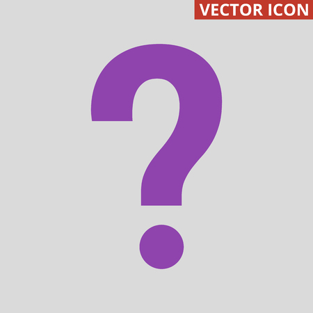 Question Icon on grey background. Vector illustration