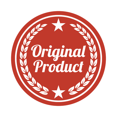 Original product label on white background. Vector illustration