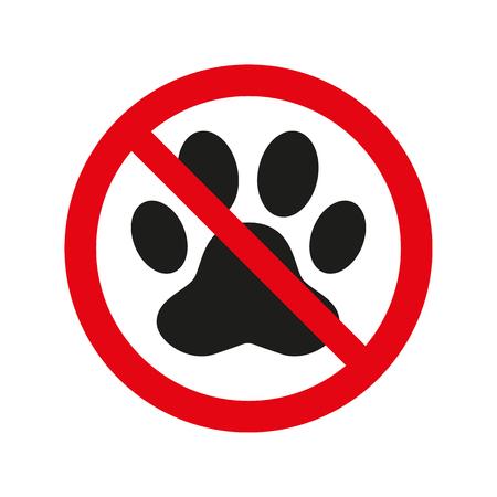 Aucun animal ne signe sur fond blanc. Illustration vectorielle